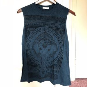 Urban Outfitters muscle tee with elephant graphic